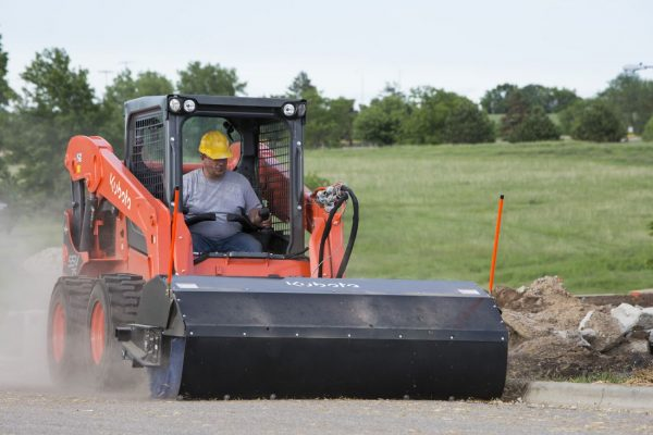 skid steer working